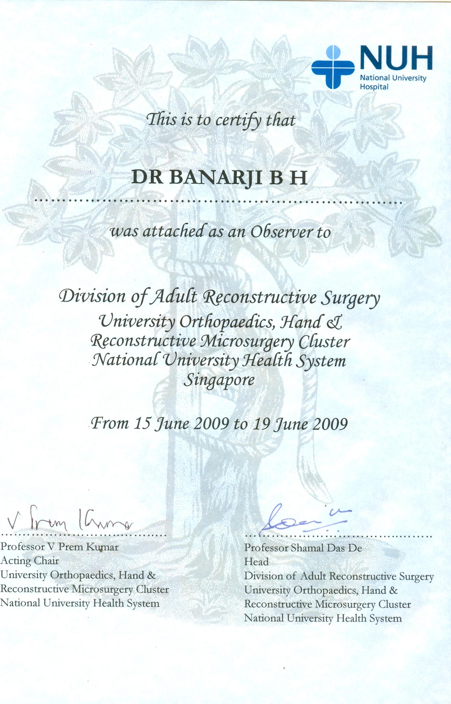 Dr  Banarji BH   Orthopaedic Surgeon In Bangalore   Shoulder